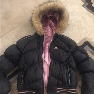 Jennifer Lopez Reversible Puffer Coat